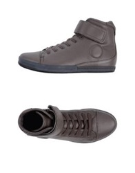 Jil Sander High Tops And Trainers Brown