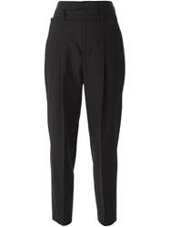 Diesel Black Gold Pleated Cropped Trousers