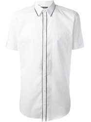 Dolce And Gabbana Piped Trim Shirt White