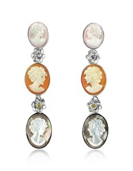Mia And Beverly Cameo Drop Earrings Multicolor