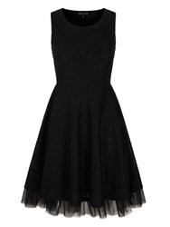 Mela Loves London Lace Tulle Prom Dress Black