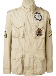 Amen Patches Jacket Nude And Neutrals