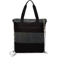 Rick Owens Drkshdw Black And Blue Large Shopper Tote