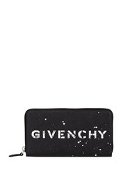 Givenchy Iconic Logo Leather Continental Wallet Black