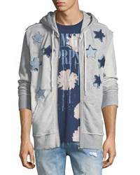 Prps Star Patch Zip Up Hoodie Gray