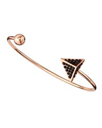 Jules Smith Designs Jules Smith Pave Arrow And Ball Cuff Bracelet Rose Golden Black