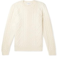 Norse Projects Arild Cable Knit Wool Sweater Cream