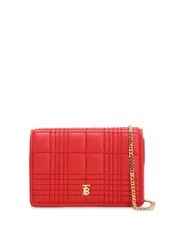 Burberry Jessie Quilted Leather Wallet Chain Red