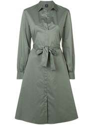 Paul Smith Ps Belted Shirt Dress Green