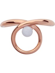 Links Of London Serpentine Rose And Blue Lace Agate Ring Rose Gold