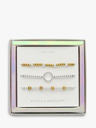 Estella Bartlett Hearts And Circles Bracelet Jewellery Gift Set Silver Gold