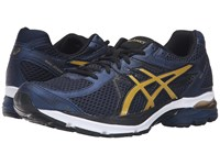 Asics Gel Flux 3 Dark Navy Rich Gold Black Men's Running Shoes