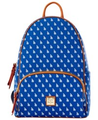 Dooney And Bourke Los Angeles Dodgers Signature Backpack Blue