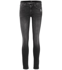 7 For All Mankind The Skinny Mid Rise Jeans Blue