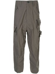 Julius Drop Crotch Cargo Trousers Grey