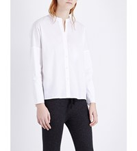 James Perse Relaxed Stretch Cotton Shirt White
