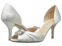 Pelle Moda Ilan 2 White Classified Bridal Satin High Heels