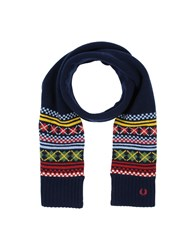 Fred Perry Oblong Scarves Dark Blue