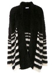 Mara Mac Striped Knit Cardi Coat Black