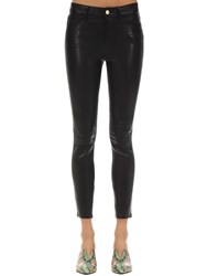 Frame Le High Skinny Leather Pants Black