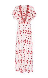 Giambattista Valli Short Butterfly Sleeved Dress White