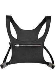 1017 Alyx 9Sm Minimal Leather Chest Rig Black
