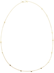 Natasha Collis 18K Gold Necklace With Yellow Gold Nuggets Metallic