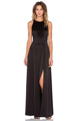 Alice Olivia Wen T Back High Slit Maxi Dress Black