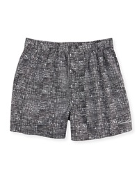 Kenneth Cole Printed Boxer Shorts Black
