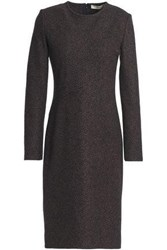 Vanessa Bruno Herringbone Wool Blend Dress Navy