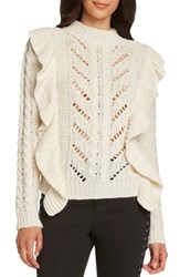 Willow And Clay Ruffle Detail Sweater Ivory