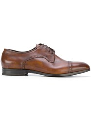 Fabi Derby Shoes Calf Leather Leather Rubber Brown