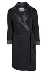 Ugg Plus Size Duffield Ii Robe Black Bear Heather