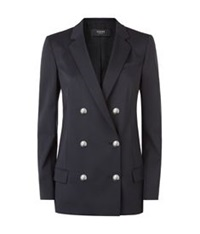 Versus By Versace Double Breasted Blazer Black