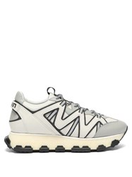 Lanvin Lightening Panelled Leather Trainers White Multi
