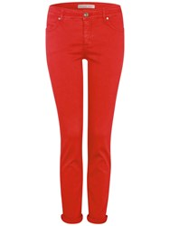 Oui Baxtor Slim Fit Jeggings Red