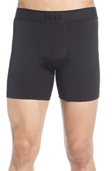Saxx Men's 'Kinetic' Stretch Boxer Briefs Blackout