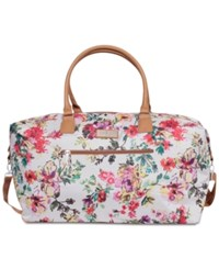 Jessica Simpson French Floral Duffel Bag Cream