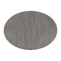 Chilewich Bamboo Oval Placemat Grey Flannel