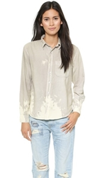 Nsf Axel Buttondown Pale Grey Bleach