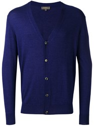 N.Peal Button Up Cardigan Blue