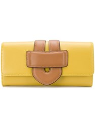 Tila March Zelig Continental Wallet Yellow And Orange