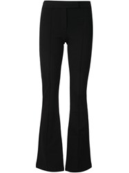 Getting Back To Square One Flared Trousers Black