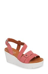 Bos. And Co. Sierra Platform Wedge Sandal Dusty Rose Leather