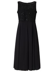 Jacques Vert Floating Bodice Dress Black