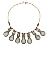 Natalie B Drops Of Ice Necklace Metallic Silver