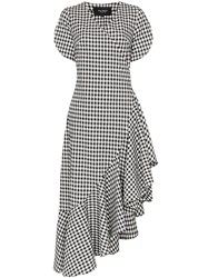 Paper London Colorados Gingham Ruffle Dress Black