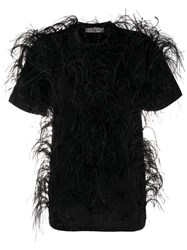 Valentino Feather Embellished Short Sleeved T Shirt 60
