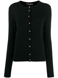 Dolce And Gabbana Logo Buttons Cardigan Black
