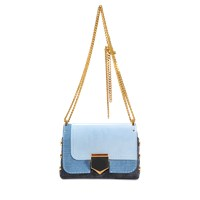 Jimmy Choo Lockett Petite Bag In Patchwok Denim